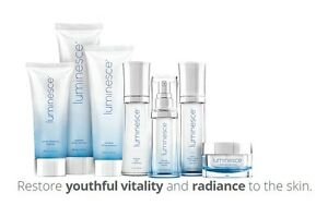 The Luminesce anti-aging skin care line