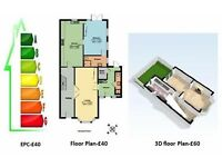 EPC- £40, Floor Plan-£40, Greater London, EPC+Floor Plan-£70, Available 7 days a Week