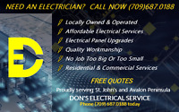 NEED AN ELECTRICIAN? CALL NOW (709) 687.0188