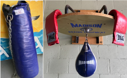 Boxing Bag, Speed Ball and Boxing Gloves