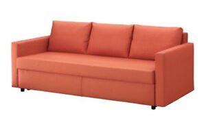 Canapé-lit orange foncé IKEA Sofa bed