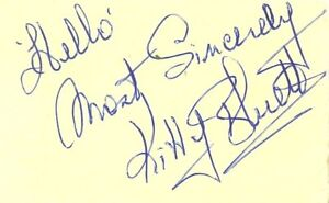 Kitty-Bluett-signed-autograph-book-page-1950s-60s-radio-star-Actress-Fred-Bluett