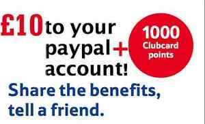 Tesco Credit Card : Refer A Friend Scheme 1000 Clubcard Points + £10