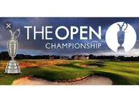 2 X OPEN GOLF CHAMPIONSHIP TICKETS - CARNOUSTIE (THURSDAY 19th JULY)