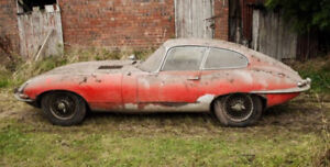 BARN FIND JAGUAR E-TYPE ROADSTER-XK-XKE-COUPE-2+2    1961-1975