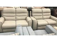 2 x La Z Boy 2 seater leather sofas