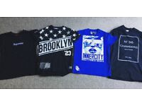 Men's t shirt supreme/supply & demand/innercity and 36 chambers shaolin bundle size small