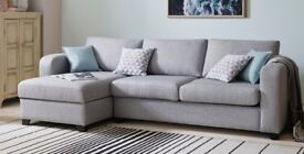 Corner Sofa and Storage Foot Stool - Almost Brand New