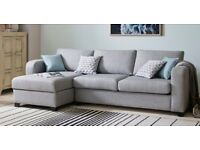 Corner Sofa and Storage Foot Stool - Almost Brand New