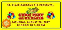 "VENDORS WANTED, ST. CLAIR GARDENS BIA ""CORN FESTIVAL"""