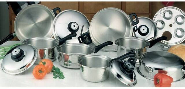 Nib 17pc T 304 Surgical Stainless Steel Healthy Waterless Cookware Set