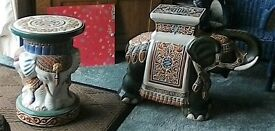 two very attractive pot stands (elephant)