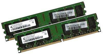 2x 2GB 4GB RAM PC Speicher DDR2 667 Mhz PC2-5300U f. Intel +AMD Low Density DIMM online kaufen