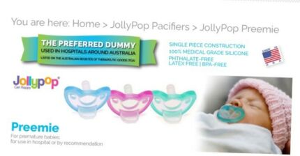 2 x Jollypop Premmie Dummy's pacifiers  (blue and teal)
