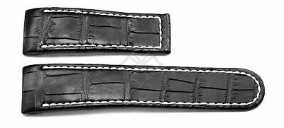 Ebel 1911 Tekton Uhrenarmband Krokodil Schwarz 26mm