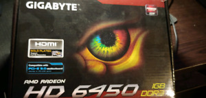Gigabyte HD6450 1GB video graphics card