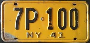 Vintage - Plaque d'immatriculation de New York 1941