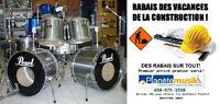 *RABAIS VACANCES CONSTRUCTION* Batterie usagée 2 bass drum PEARL