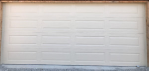 Brand new Amarr double garage doors (Wicker Tan) for only $700