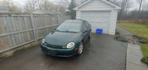2000 Chrysler Neon Low KM AS IS