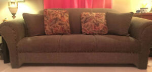 Couch, Matching Side Chair and 6 Swivel Chairs