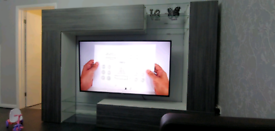 Handy man and TV mounting furniture assembly