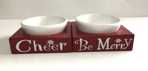 Cat/Dog Christmas Sm. Bowls - UNSOLD AUCTION ITEM - Brand New