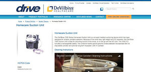 DeVilbiss 7305 Series Homecare Suction Unit with carrybag/book