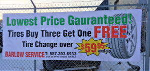 [Promotion] Tire Change / Oil Change NEW PRICE!