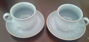50% OFF on DENBY POTTERY 'BLUE DAWN' PAIR CUPS&SAUCER