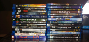 3D Blu-ray Movie collection