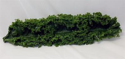 12 Plastic Kale For Salad Bar Display. Fake Foods Artificial Kale 50 Pack.