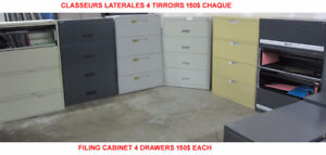 LOT CLASSEUR FILIERE LATERAL VERTICAL 2,3,4 TIRROIRS FILING CABI