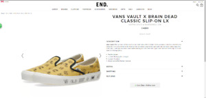 Vault by Vans and Brain Dead Classic Slip-On LX in Aspen Gold