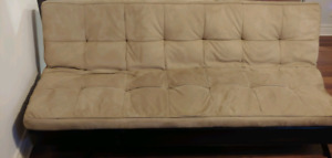 Light brown Futon - Good condition! 3 seater