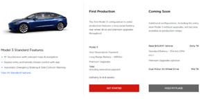 Tesla Model 3 - Be the 1st to own in 4-8 weeks ($4000)