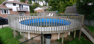 32' round deck from above ground pool free