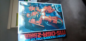 Vintage 1996 Gundam, Zaku2 all packages unopened.