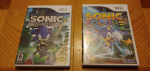 wii Sonic colors & Sonic black knight