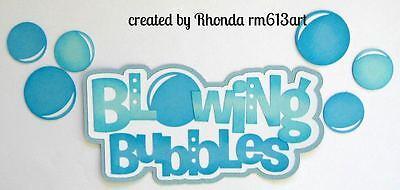 Bubbles play boy girl paper piecing title premade scrapbook page Rhonda rm613art