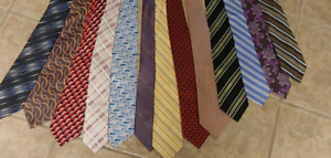 Assorted mens ties. Many colors barely worn