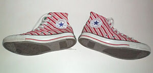 Converse All Stars Limited Edition Candy Stripe Size 9 Womens London Ontario image 3