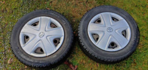 """4 15"""" Michelin X-Ice Snow Tires w/ Rims and Hubs"""