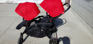 Contours Double Stroller (Red and Black)