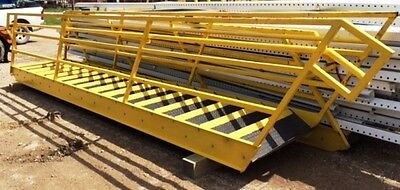 Mezzanine Access Stairs Closed Treads Safety Handrails 206 X 39 16 Steps