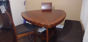 Kitchen Table.  Bar Height. Reupholstered.