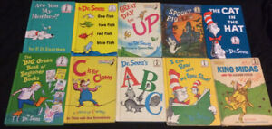 Dr Seuss Book Lot Of 10 Cat In The Hat, One Fish Two Fish