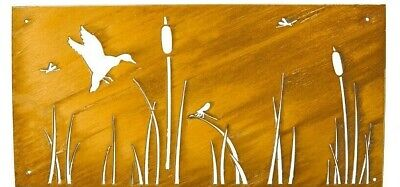 Privacy Screen 2x4', Cattails, Dragonfly, Duck, Outdoor Privacy, Privacy Panel ()