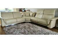 Ekornes Stressless Corner 5 seater recliner Leather Sofa 250420