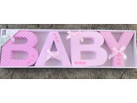 Fabric Baby Words Sign